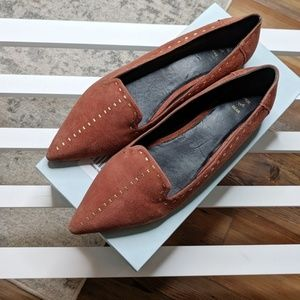 Anthropologie Shoe The Bear Studded Brown Loafer